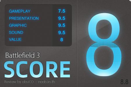 Battlefield 3 Score - 8.8/10